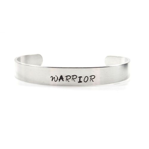 Warrior Hand Stamped Bracelet / Bangle - Gift Boxed - Free P&P